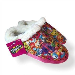 NWT Shopkins Slippers Size Small (11-12) Multicolo